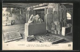 CPA Langres, Intérieur Du Musée Historique Et Archeologique - Langres