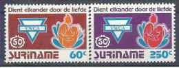 1992 SURINAM 1261-62** YWCA - Surinam