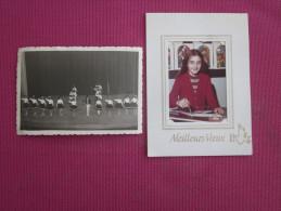 2 PHOTOS ECOLIERE EN MEILLEURS VOEUX 1973 ET REPRENSATION BALLET THEATRE OU DANSE ? - Other