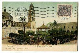 VERACRUZ El Zocalo Y La Parroquia Carte Précurseur - Mexiko