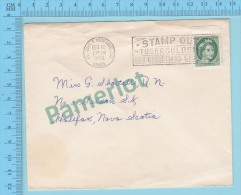 """1955 Cover """"STAMP OUT TUBERCULOSIS BUY CHRISTMANS SEALS""""  2 Scans - 1952-.... Règne D'Elizabeth II"""