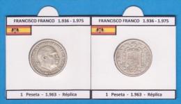 FRANCISCO FRANCO (ESTADO ESPAÑOL)  (1.936-1.975) 1 PESETA  1.963  SC/UNC  Réplica  DL-11.423 - [ 4] 1939-1947 : Gobierno Nacionalista