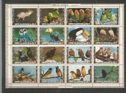 UMM AL QIWAIN - MNH - Animals - Birds - Parrots - Parrots