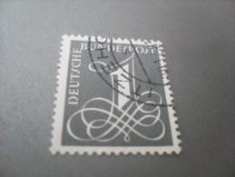 """BRD 1955  Mi. Nr. 226y  O / Gestempelt  Papier Mit Fl.   """" Zifferzeichnung """" - Used Stamps"""