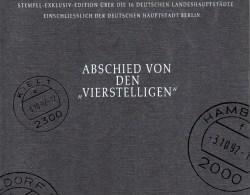 Gift-book Edition Abschied Postleitzahlen 1992 BRD 14 Ausgaben O 55€ Geschenk-Buch 4-stellig PLZ Stamps Document Germany - Geography