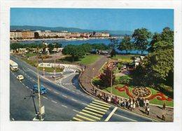 SWITZERLAND - AK 251524 Genève - L´Horologe Fleurie Et L'entrée Du Parking Sous-lacustre - GE Geneva