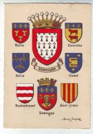 CPA   Blasons Limousin - Cartoline