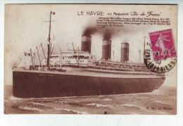 CPA   Paquebot Ile De France - Dampfer