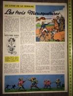 PUB PUBLICITE LIVRE LES TROIS 3 MOUSQUETAIRES ALEXANDRE DUMAS AVEC ILLUSTRATIONS ROB - Collections