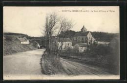CPA Boissy-la-Riviere, La Route D'Ormoy Et L'Eglise - France