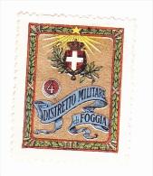 Vignette Militaire Delandre - Italie - 4ème District Militaire Di Foggia - Vignettes Militaires
