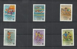 1984- Libya- Olympic Games - Los Angeles, USA - Complete Issue 6 Stamps MNH - Libia