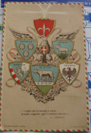 ITALIA 1912 - RARA CARTOLINA PATRIOTTICA  VIAGGIATA - Trento