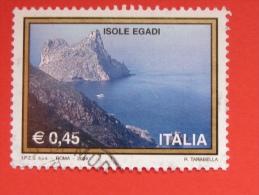 ITALIA USATI 2004 - TURISTICA ISOLE EGADI - RIF. G 1858 - 6. 1946-.. Repubblica