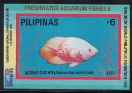 Philippines. 1993. Fish. MNH Overprinted SS. SCV = 5.25 - Vissen