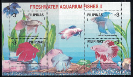 Philippines. 1993. Fish. MNH Overprinted Sheet Of 4. SCV = 5.25 - Vissen