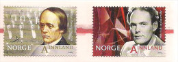 Norge Norway 2015 Famous People: Halfdan Kjerulf (1815-1868), Composer, Agnar Mykle (1915-1994) Writer, MNH(**) - Unused Stamps