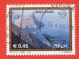 ITALIA USATI 2004 - TURISTICA ISOLE EGADI - RIF. G 1860 LUSSO - 6. 1946-.. Repubblica