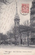 PARIS XVIII°  Boulevard ORNANO  EGLISE SAINT PAUL Timbre 1903 - Paris (18)