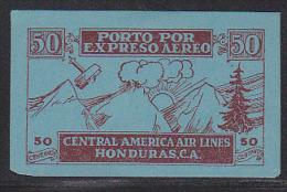 Honduras Airmail Express Label 50 Centavo. - Honduras