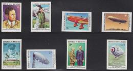 Maldives Lindbergh 50th Anniversary Set Of 8 Imperforates. Scott 701-8. - Maldive (1965-...)