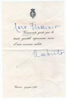 UMBERTO II SAVOIA - AUTOGRAFO SU BIGLIETTO DALL'ESILIO - CASCAIS -1965 - Autografi