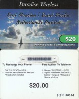 SAINT MARTIN - Paradise Wireless, ODC Prepaid Card $20, Used - Antilles (Netherlands)