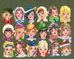 Scrapbooking - Vintage Et Original - Années 60 - 18 Sujets Filles, Enfants, Poupées (style Martine) - Scrapbooking