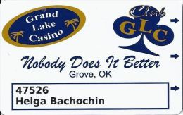 Grand Lake Casino Grove OK Slot Card  (Printed) - Casino Cards