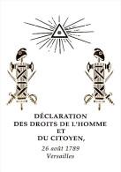 """Encart 1er Jour Luxe En Soie N°té De 4 Pages De 1989 """" BICENTENAIRE DES DROITS DE L'HOMME """" N° YT 2602 à  2605. FDC - Révolution Française"""