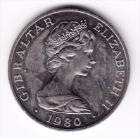 1980 Gibraltar Queen Mother Crown Coin - Gibraltar