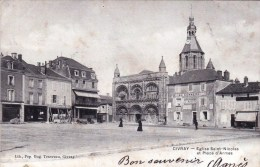 86 - Civray  - Eglise Saint Nicolas Et Place D Armes - Civray