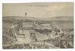 CPA 76 EU VUE PRISE EN BALLON EN 1830 GRAVURE - Eu