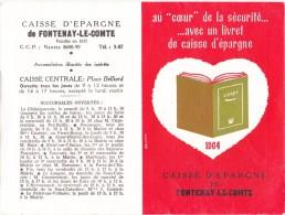 Calendrier Caisse D'Epargne De Fontenay-le-Comte 1964 - Tamaño Pequeño : 1961-70