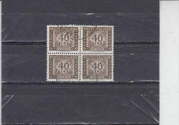ITALIA  1955-81 - T 117 (quartina) - Cifra - Postage Due