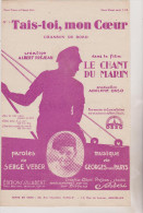 (GB1) Tais-toi Mon Coeur , ALBERT PREJEAN , Paroles : SERGE VEBER , Musique GEORGES VAN PARYS - Spartiti