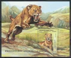 Mtw186 FAUNA WILDE KAT ROOFKAT SABELTANDTIJGER PREHISTORIC WILD CAT SABELTOOTH GROßKATZEN QWA 1998 PF/MNH # - Big Cats (cats Of Prey)