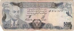 AFGHANISTAN      500 AFGHANIS      1975      P. 51b      (voir 2 Scans) - Afghanistan