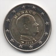 MONACO - 2€ Commémorative 2012 - Roi Albert - LUXE - Monaco