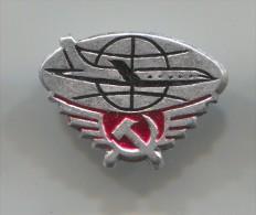 Airplane / Airlines, Plane Flug, Aviation - AEROFLOT, Soviet Union Russia, Vintage Pin Badge - Avions