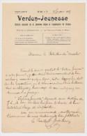 """VERDUN - Lettre Du Président Directeur De """"VERDUN-JEUNESSE"""" - 1909 - Documents Historiques"""