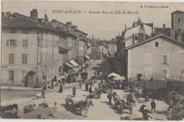 CPA 01 PONT DE VAUX Grande Rue Un Jour De Marché Animation - Pont-de-Vaux