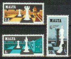 Mua055 SPORT SCHAKEN PAARD CHESS HORSE SCHACHSPIEL PFERD ECHEC MALTA 1980 PF/MNH  VANAF1EURO - Schaken