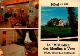 """50-BREVILLE SUR MER...HOTEL LA """"MOUGINE""""..3 VUES...CPM - Autres Communes"""