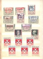 SMOM - Lotto Annate Complete Dal 1966 Al 1979 Con Espressi E Segnatasse Senza BF - In Raccoglitore - Splendidi - Malte (Ordre De)