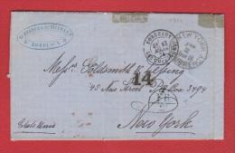 Lettre //  De Bodeaux   //  Pour Orléans  //  13 Mars 1874 - Postmark Collection (Covers)