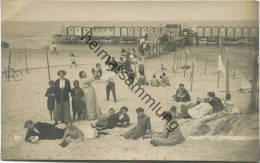 Assern - Am Strand - Badesteg Mit Badehütten - Foto-AK Gel. 1914 - Lettonia