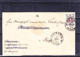 Russie - Estonie - Lettre De 1881 - Oblitération Dorpat - Expédié Vers Riga - 1857-1916 Imperium