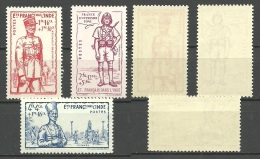 FRANCE / INDIA -- Old Stamps   1941 Defence  Nr.123 /125  MNH - India (1892-1954)