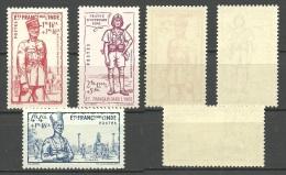 FRANCE / INDIA -- Old Stamps   1941 Defence  Nr.123 /125  MNH - Unused Stamps